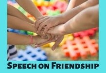 Speech on Friendship
